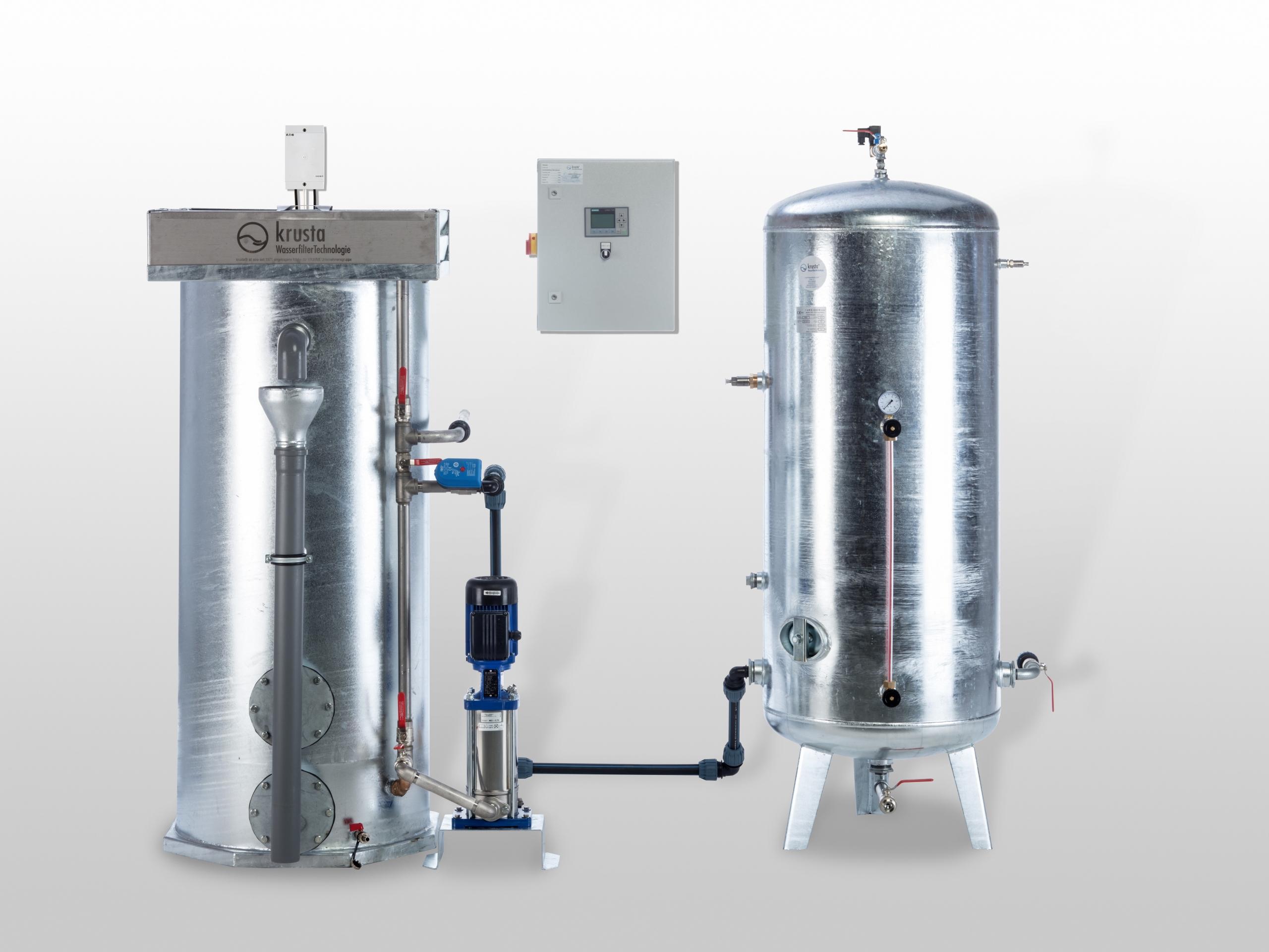 Aufbau Wasserfilter mit Druckkessel